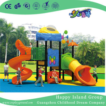 New Outdoor Children S Slide Vegetable Playground Equipment with Flower (HG-9702)