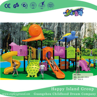 Cartoon Animal Children Galvanized Steel Playground with Turtle (HG-9901)