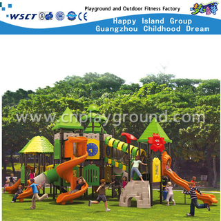 Outdoor Castle Galvanized Steel Playground Kids Play Equipment On Stock(HA-07901)