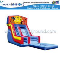 Outdoor Cartoon Children Inflatable Slide playground (HD-9606)