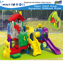 Small Full Plastic Slide Playground Equipment for Toddlers (M11-03101)