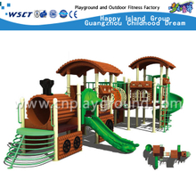 Outdoor School Children Train Galvanized Steel Playground