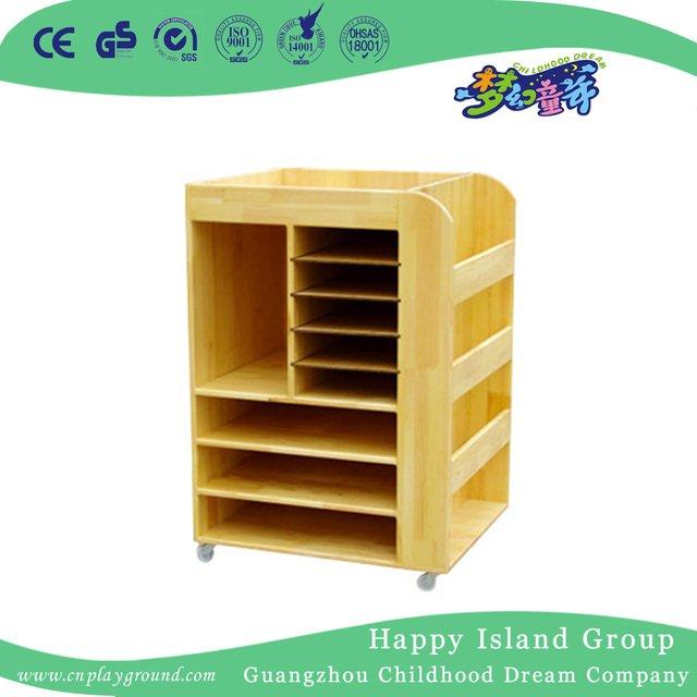 School Wood Mobile Art Supplies Storage Cabinet Hg 4507