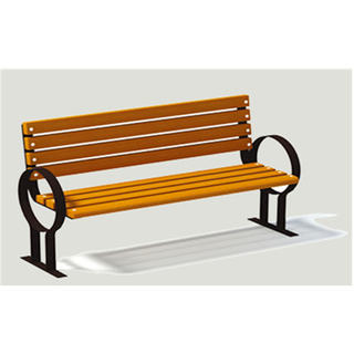 Outdoor Wooden Leisure Bench Equipment With Metal Armrest (HHK-14701)