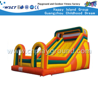 Outdoor Three-Color Simple Inflatable Slide For Toddler Play (HD-9503)