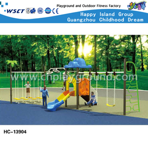 Outdoor Cartoon Children Swing Combination Playground (HC-13904)