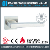 Antirust top selling flat square solid door handle for External Door- DDSH174