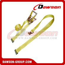 2 inch Heavy Duty Ratchet Strap with E-Fittings and Narrow Flat Hook