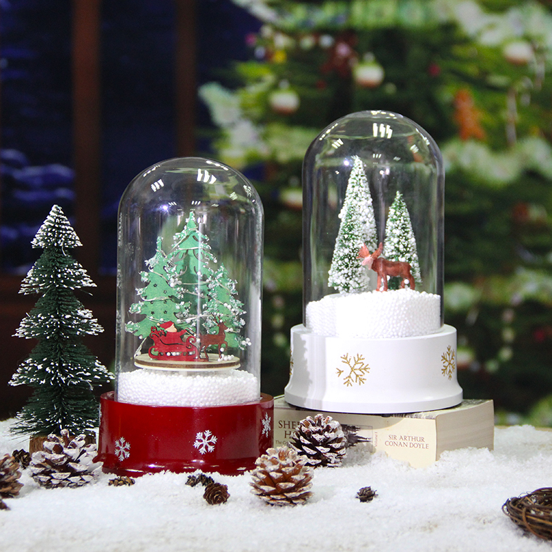 cheap christmas snow dome with lights kids gifts