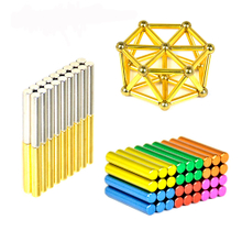 Most popular product magnetic sticks rods with steel balls children educational toy