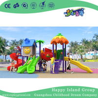 2018 New Design Outdoor Children Vegetable House Playground Equipment with Combination Slide (H17-A7)