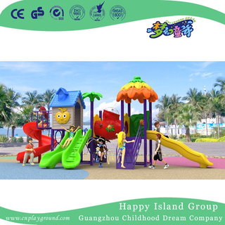 New Design Outdoor Children Vegetable House Playground Equipment with Combination Slide (H17-A7)