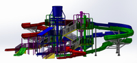 Amusement Park Outdoor Large Water Slide Playground Equipment
