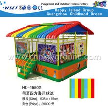 Discount Large Ball Pool House With Rainbow Roof And Cartoon Images(HD-15502)