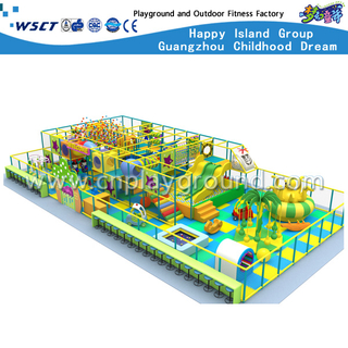 High Quality Middle Indoor Playground Plastic Slide Equipment(M11-C007)