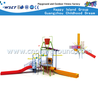 Water Amusement Park Slide Equipment Swimming Pool Water Play Set on Stock (HD-6702)