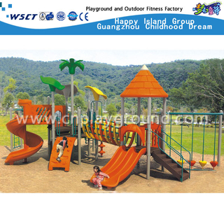 Cheap Outdoor Play Sevilla Playground Galvanized Steel Equipment for Kids (HAP-03001)