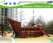 Outdoor Pirate Ship Wooden Playground Equipment for Family