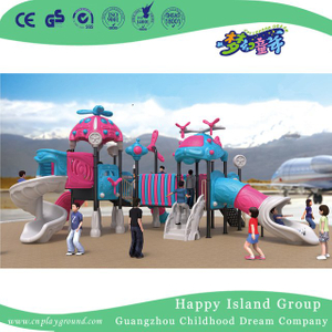 Outdoor New Design Airship Galvanized Steel Playground for Children Role Play (HG-10502)
