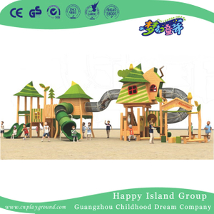 Outdoor Large Wooden Playhouse Playground For Garden (1907302)