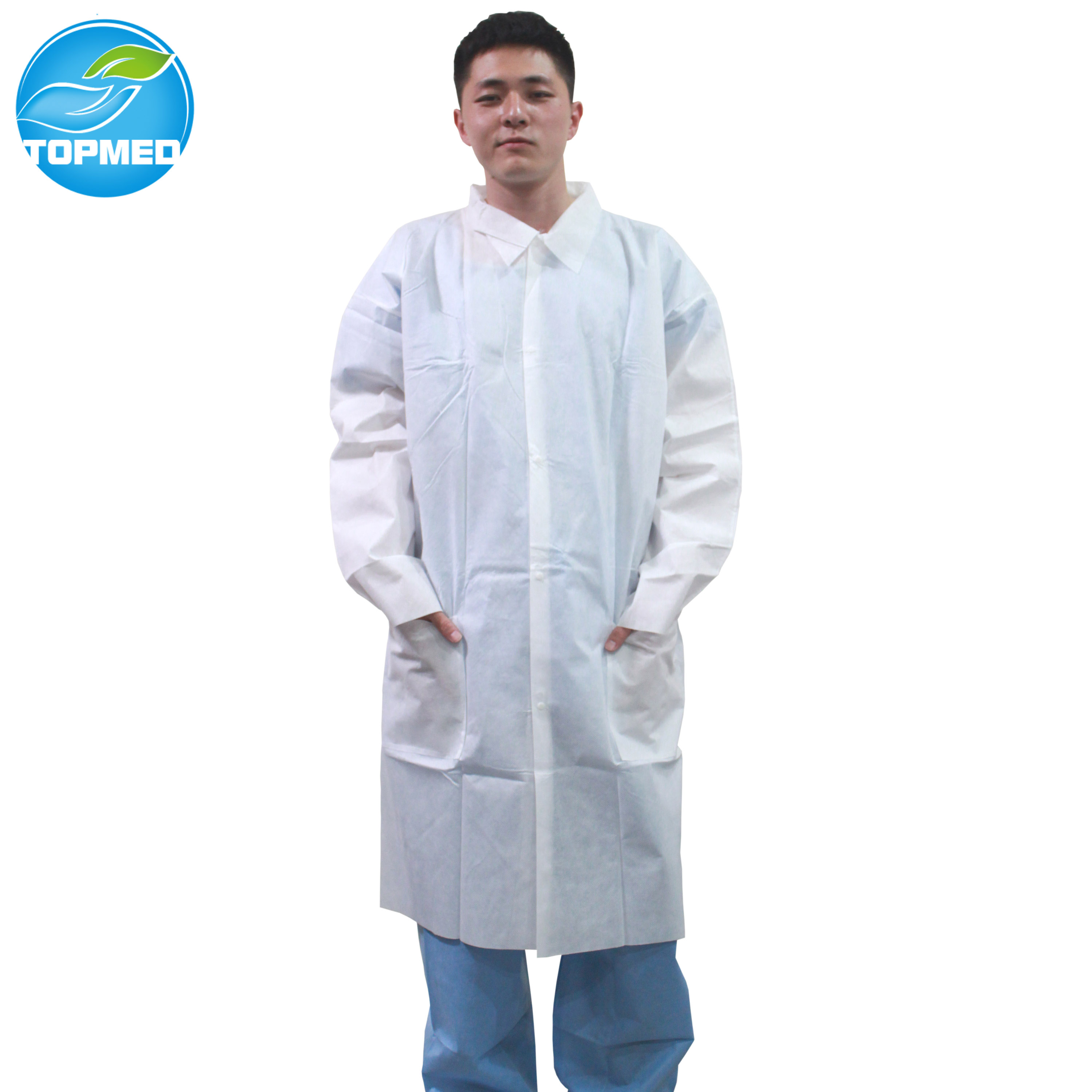 Disposable Non Woven lab coat