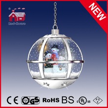 (LH30033-3S2-WS11) Snowing Christmas Decoration with Snow Flakes Hanging Snowglobe Lamp