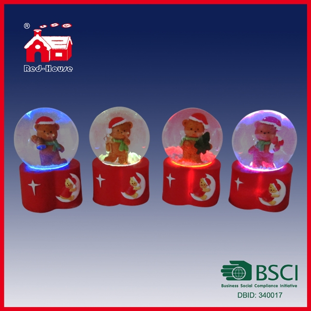 Fashion Latest Electric LED LED Water Globe Cute Bear Animal Snow Globe