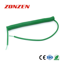 CC-K Coiled Cords With 2 Open Ends (IEC, Green)