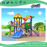 2018 New Design Outdoor Children Little Animal Playground Equipment with Double Slide (H17-A8)
