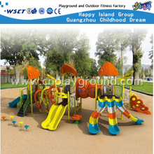 Multi-Slide Orange & Yellow Children Sea Breeze Galvanized Steel Playground (HA-03101)