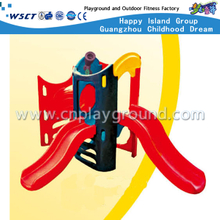 Outdoor Plastic Toys Drilling and Climbing Combination Slide Playground (M11-09108)