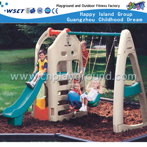 Outdoor Plastic Toys Small Slide and Swing Toddler Playground Equipment (M11-09302)