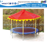 Outdoor round Trampoline Equipment Playgrounds with Roof (HD-15002)