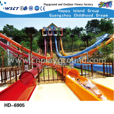 Water Parks Large Plastic Slide Equipment For Kids And Adult(A-06905)