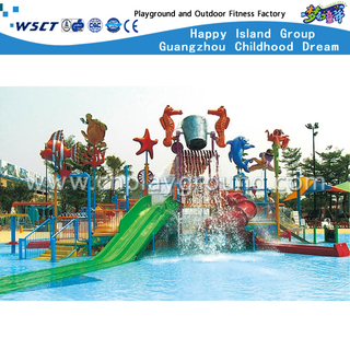 Outdoor Sea Breeze Aqua House Water Slide Equipment For Family (A-06501)