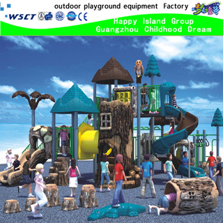 Outdoor Forest Playground Equipment with Slides(HK-50007)