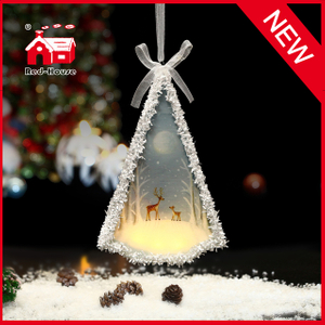 Handmade Cheap Glass Tree Shaped Christmas Tree Decoration