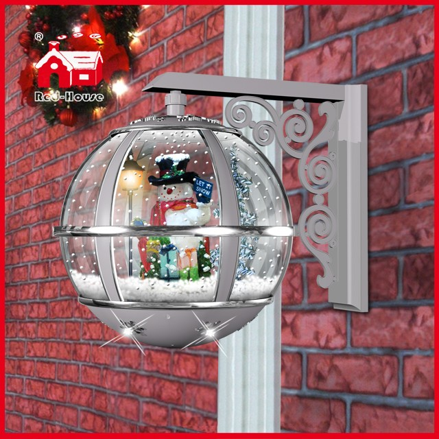 (LW30033G-SS11) Snowman Decoration Christmas Gift Round Wall Lamp