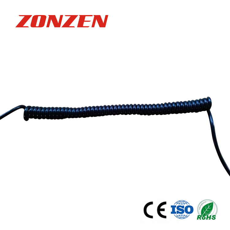 CCP-J Coiled Cords Thermocouple With Molded Miniature Male Connector
