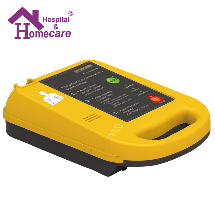 Medical Portable AED Automatic External Defibrillator With Self Test