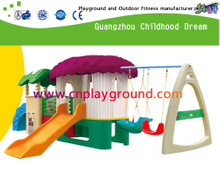 Outdoor Toddler Plastic Slide Equipment with Swing Sets (M11-09203)
