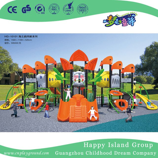 Outdoor Large Sea Breeze Galvanized Steel Playground with Children Climbing Set (HG-10101)