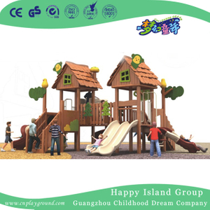 Outdoor Children Wooden Playhouse Playground For Sale (1908001)