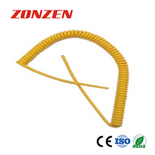 CC-K Coiled Cords With 2 Open Ends (YELLOW)