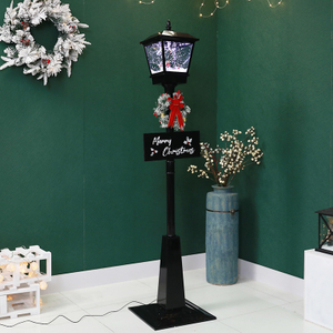 Black Snowing Decoration Christmas Lights Led Outdoor Christmas Lamp Post