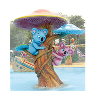 Squirrel Holding Tree Water Game Equipment For Water Park (HHK-11103)