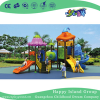 Outdoor Children Vegetable Roof Playground Equipment with S slide (HG-9202)
