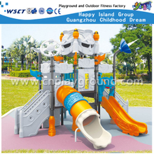 Outdoor Small Size Children Robot Galvanized Steel Playground with Slide Equipment (HA-06501)