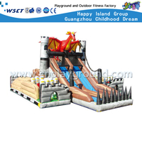 Outdoor Cartoon Animal Inflatable Slide Playgrounds (HD-9604)