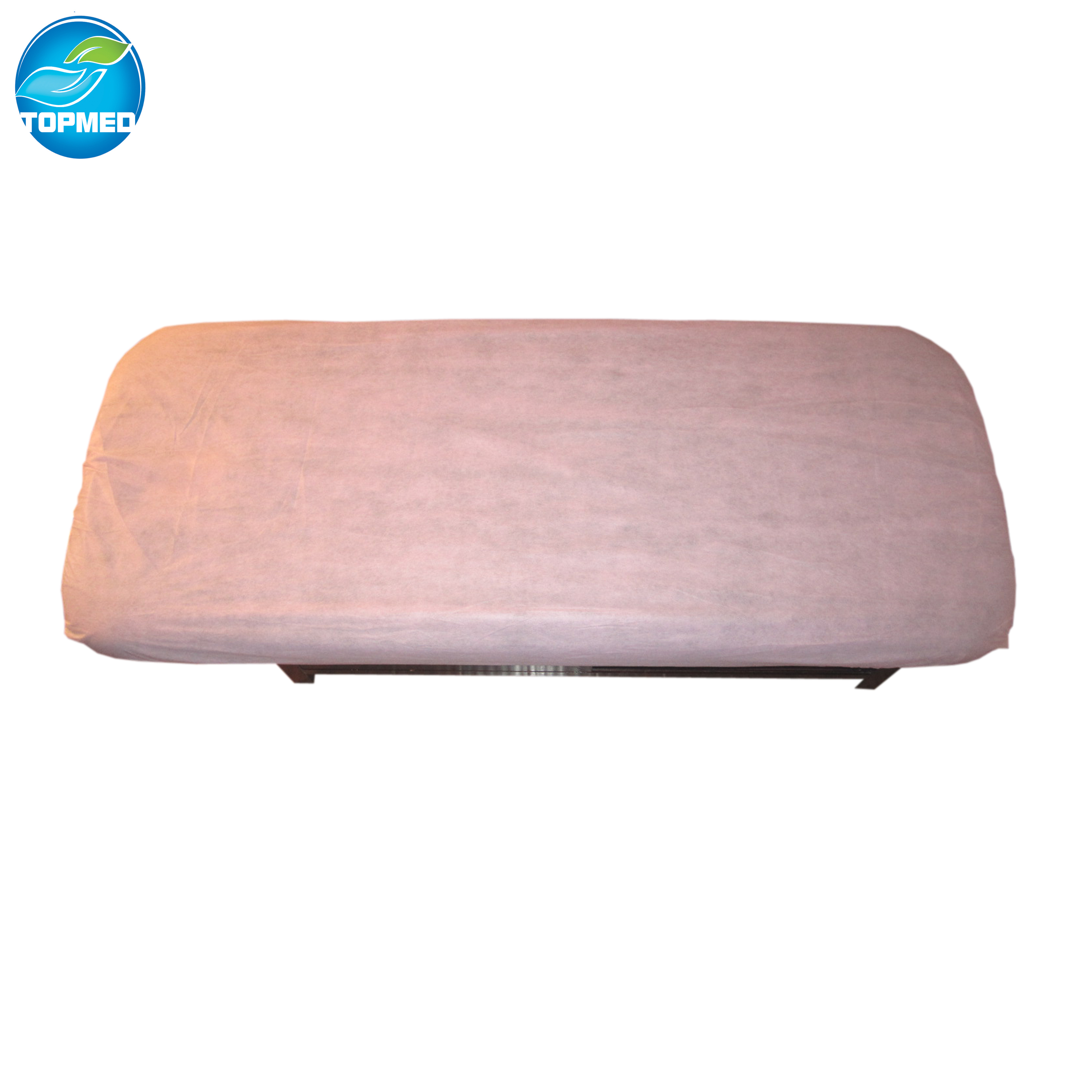 Disposable nonwoven bed cover sheet 4corners with elastic